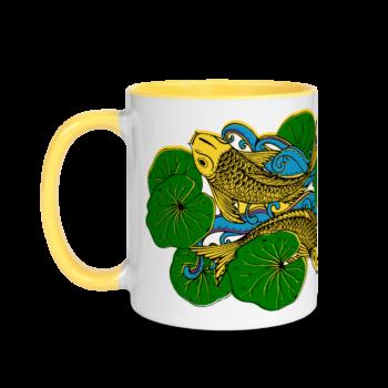 Koi Fish ceramic mug